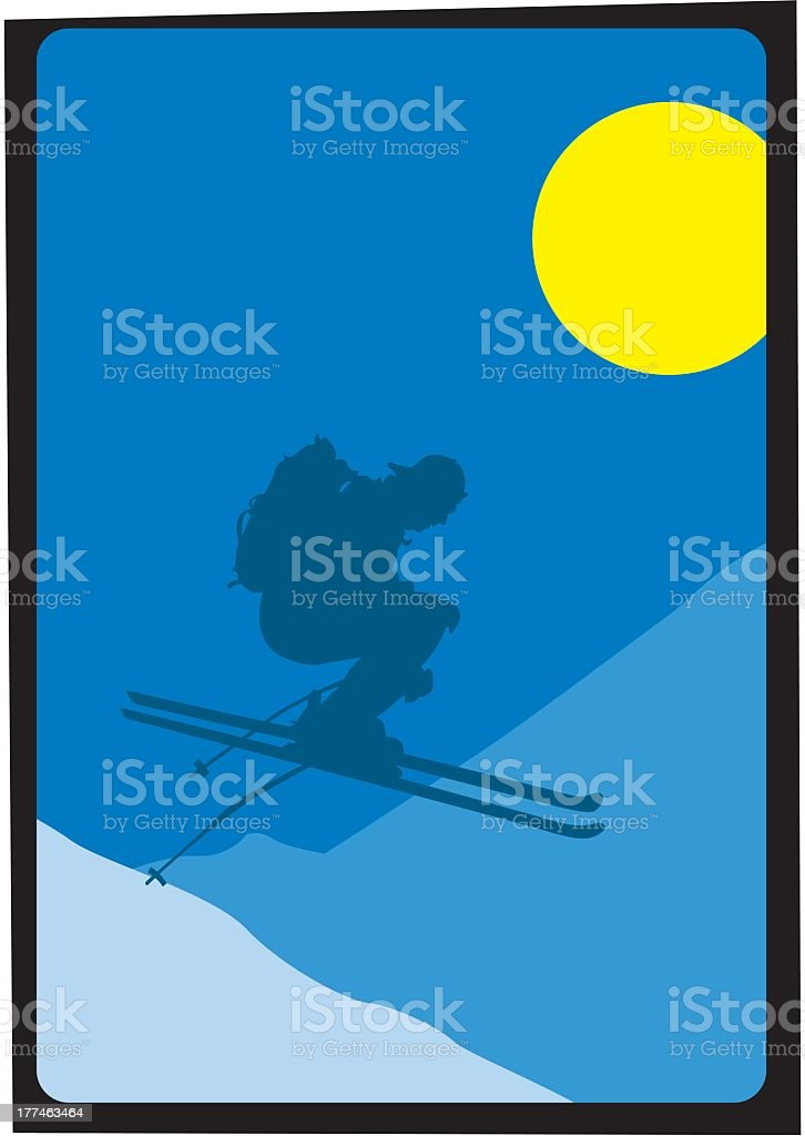 Skier royalty-free stock vector art