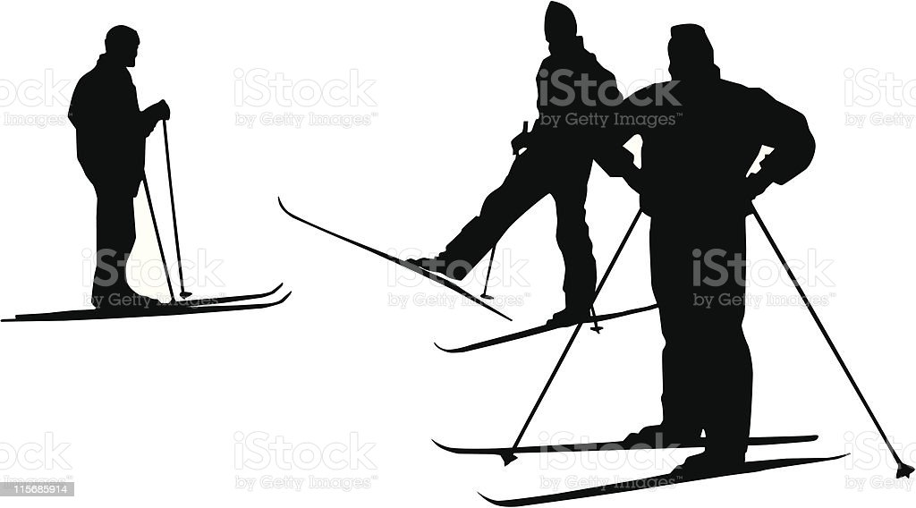 Skiers royalty-free skiers stock vector art & more images of activity