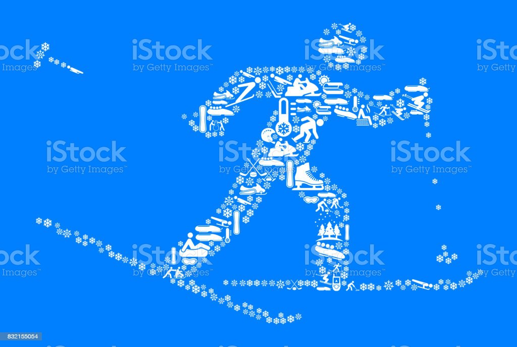 Skiing Figure Winter Sports Fun. This image features the main object...
