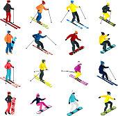 skiing set