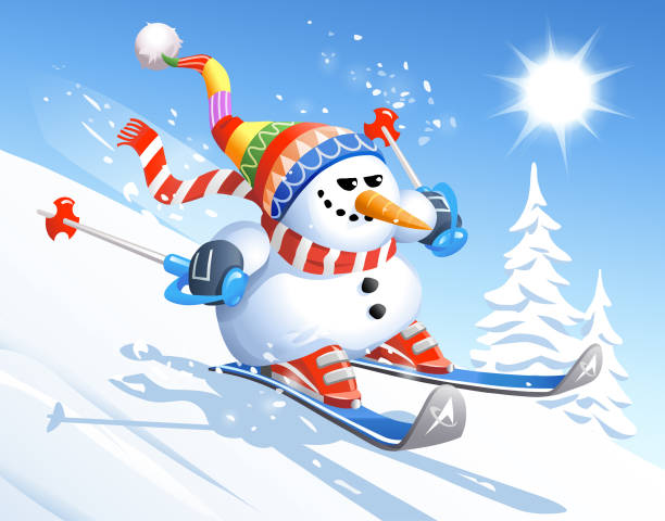 Best Learning To Ski Illustrations, Royalty-Free Vector ...