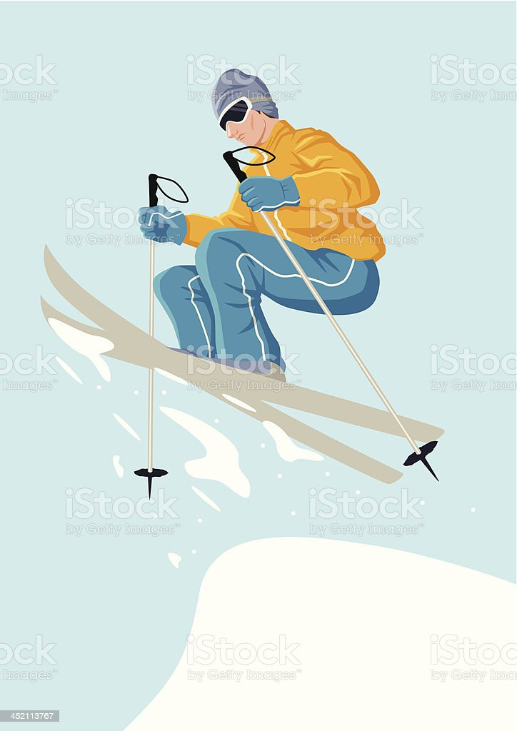 Skiing royalty-free stock vector art