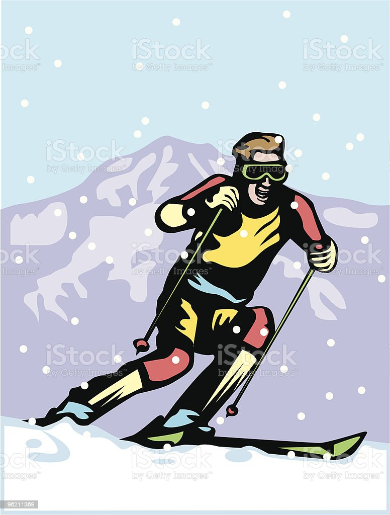 Skiing royalty-free skiing stock vector art & more images of adult