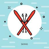Skiing Winter Sports Icon