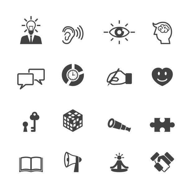 fähigkeit symbole - lesestrategien stock-grafiken, -clipart, -cartoons und -symbole