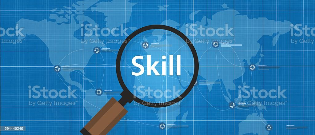 skill shortages find search talented worker qualification vector art illustration