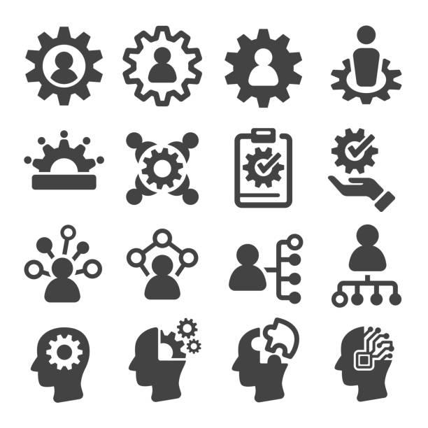 ikona umiejętności, umiejętności - umiejętność stock illustrations