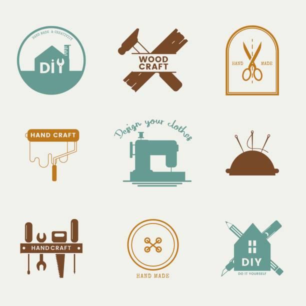 Skilled service business logo design Skilled service business logo design diy stock illustrations