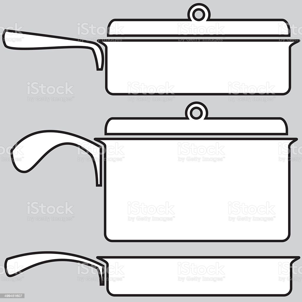 skillets icons on a gray background royalty-free skillets icons on a gray background stock vector art & more images of black color