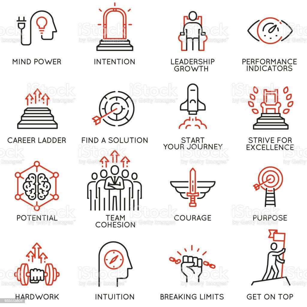 Skills, empowerment leadership development, qualities of a leader -part 3 - Royalty-free Adversidade arte vetorial