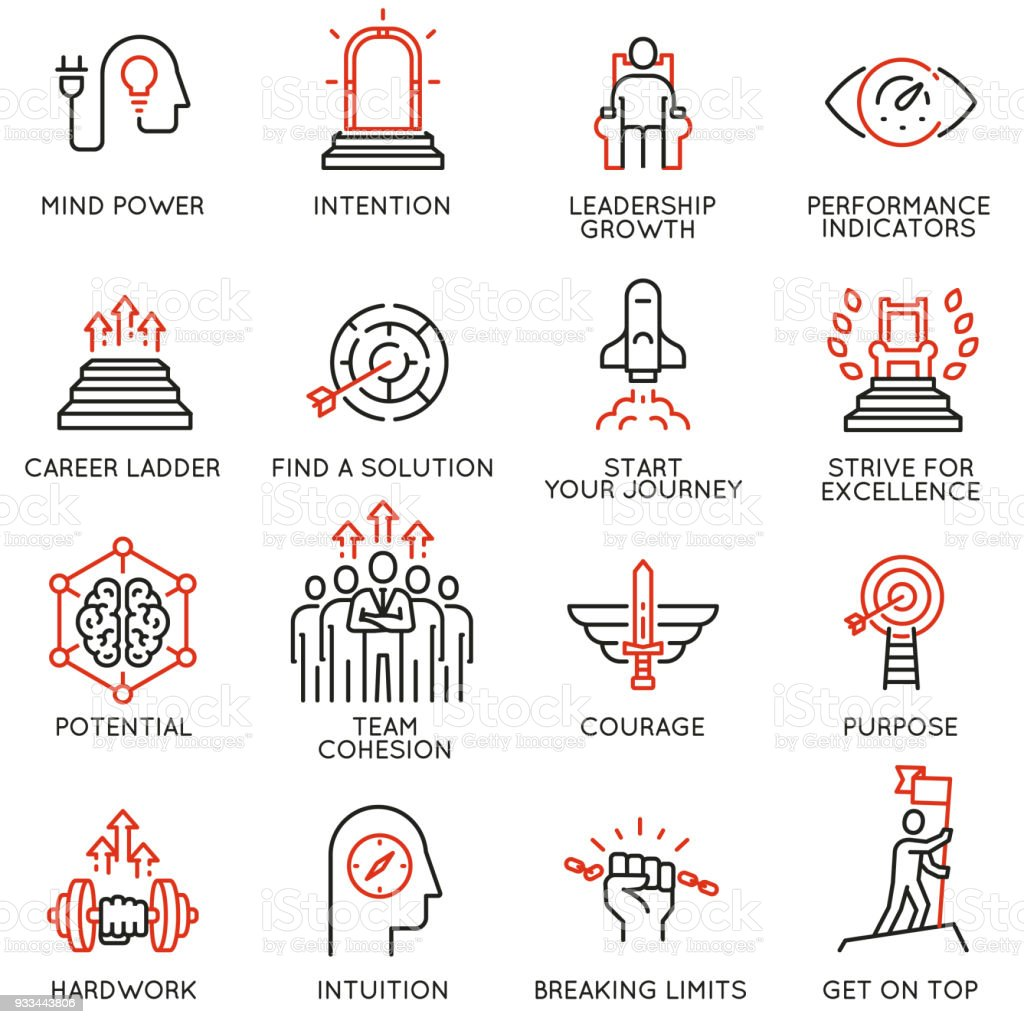 Skills, empowerment leadership development, qualities of a leader -part 3 vector art illustration