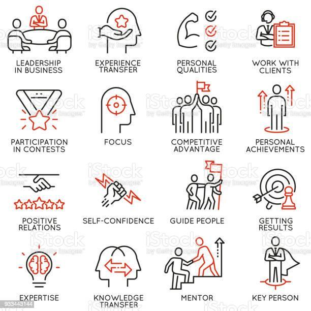 Vaardigheden Empowerment Leiderschapsontwikkeling Kwaliteiten Van Leider Pictogrammendeel 5 Stockvectorkunst en meer beelden van Activiteit