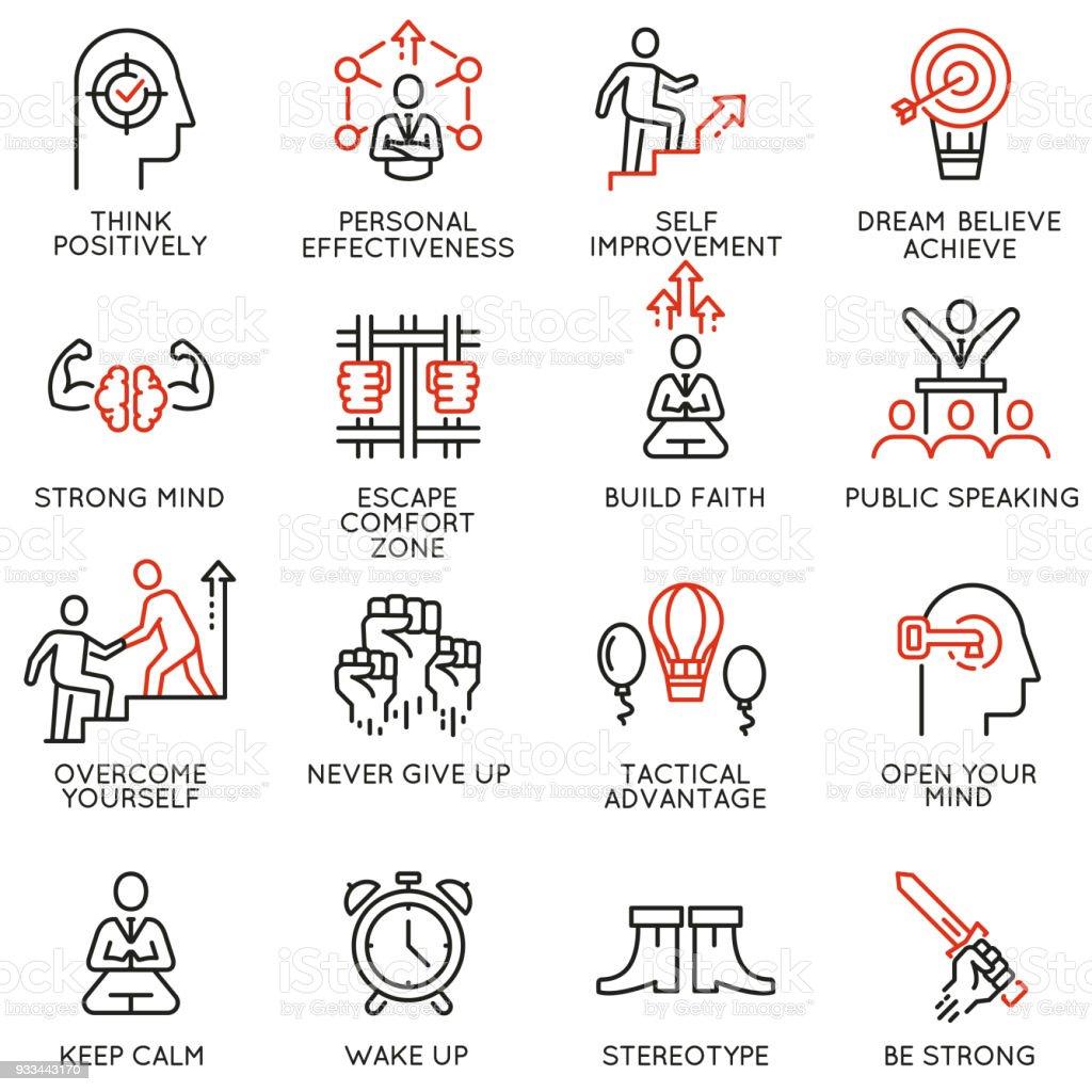 Skills, empowerment leadership development, qualities of leader icons -part 4