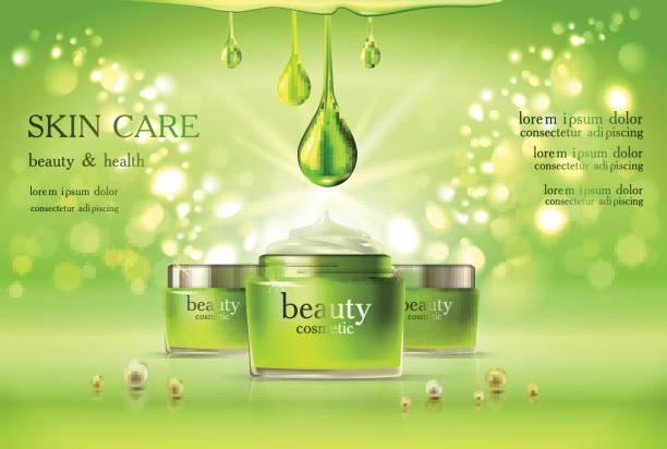 Skin Care Cosmetic vector art illustration