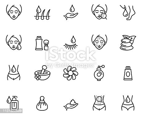 Skin care icon set , vector illustration