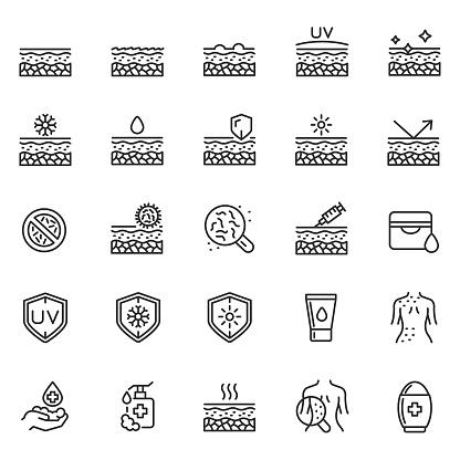 Skin care icon set