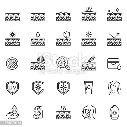 Skin care icon set