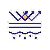 Skin care icon vector. Isolated contour symbol illustration