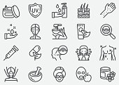 istock Skin Care Line Icons 1137264172