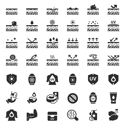 Skin care vector icon set