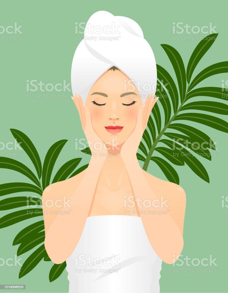 Cuidado de la piel  - ilustración de arte vectorial