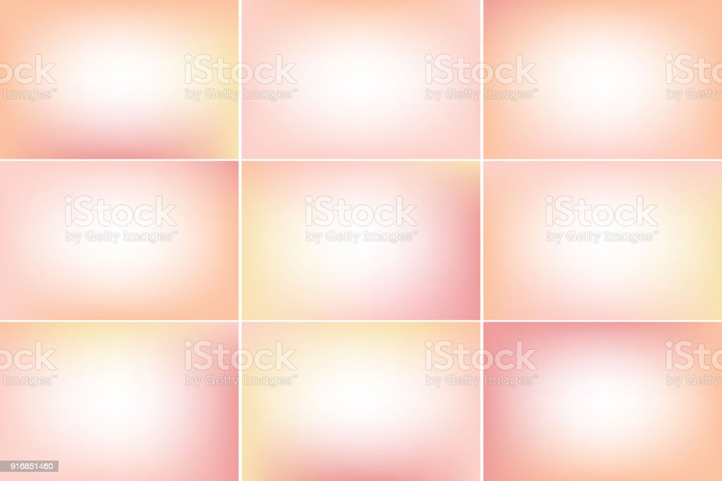 Skin color backdrop. Gradient vector backgrounds collection vector art illustration