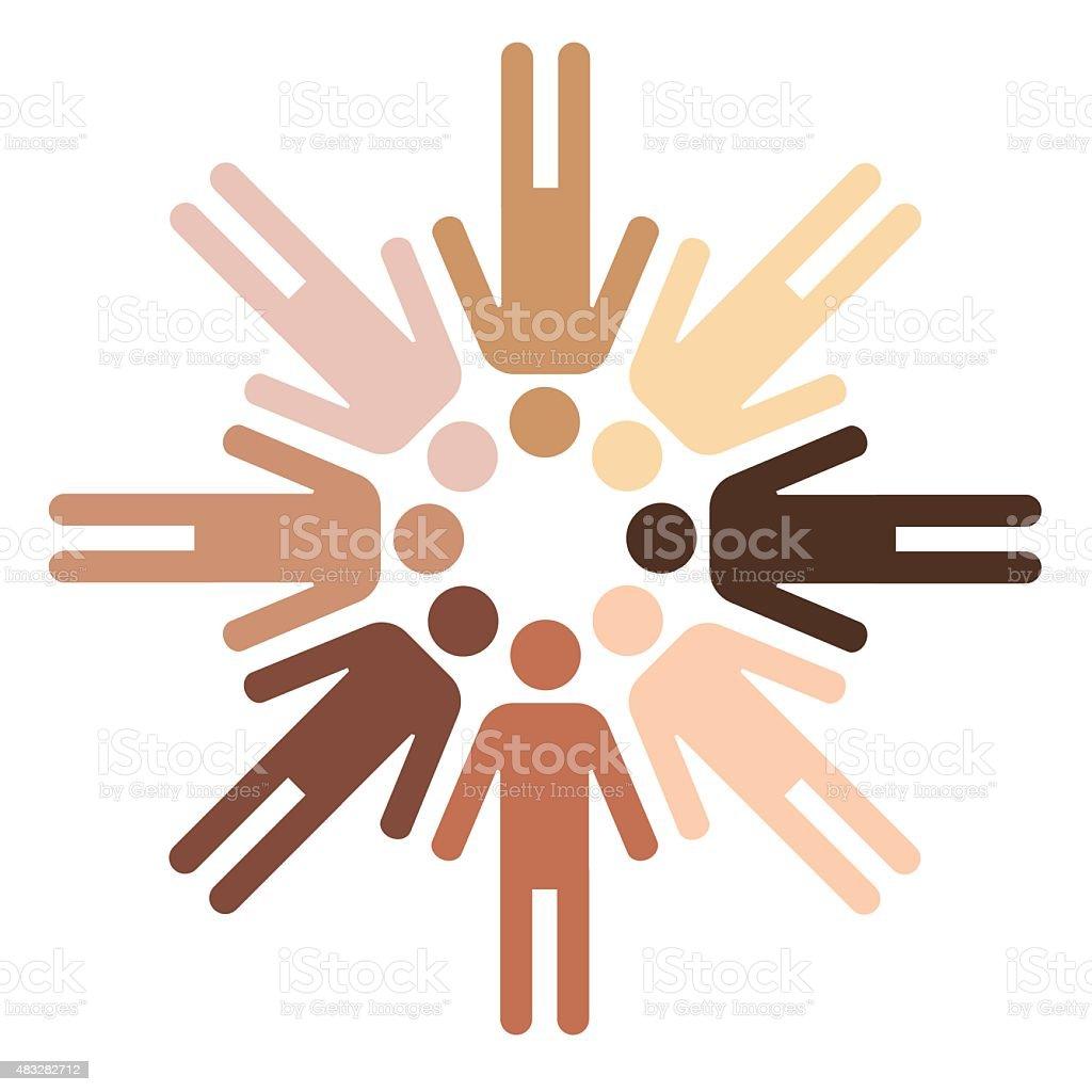 skin colors vector art illustration