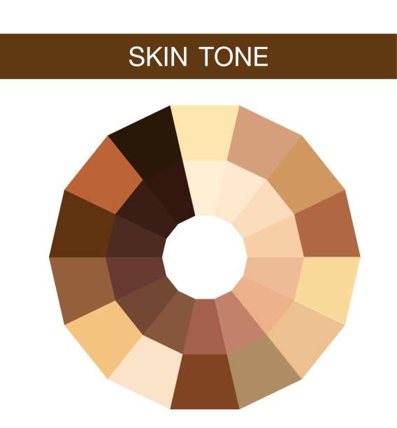skin tone, vector icon skin tone, vector icon toned image stock illustrations