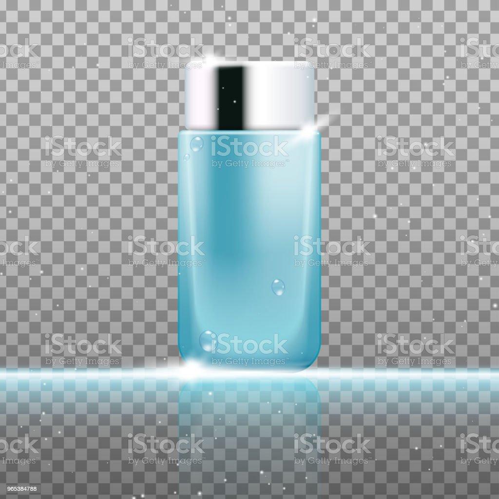 Modèle de peau toner annonces - clipart vectoriel de Affiche libre de droits