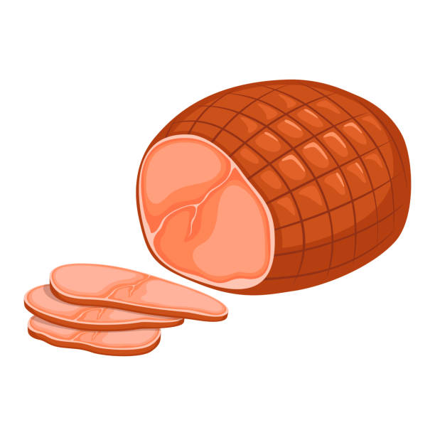 skinka - schweinebraten stock-grafiken, -clipart, -cartoons und -symbole