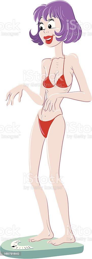 Skinny girl royalty-free stock vector art