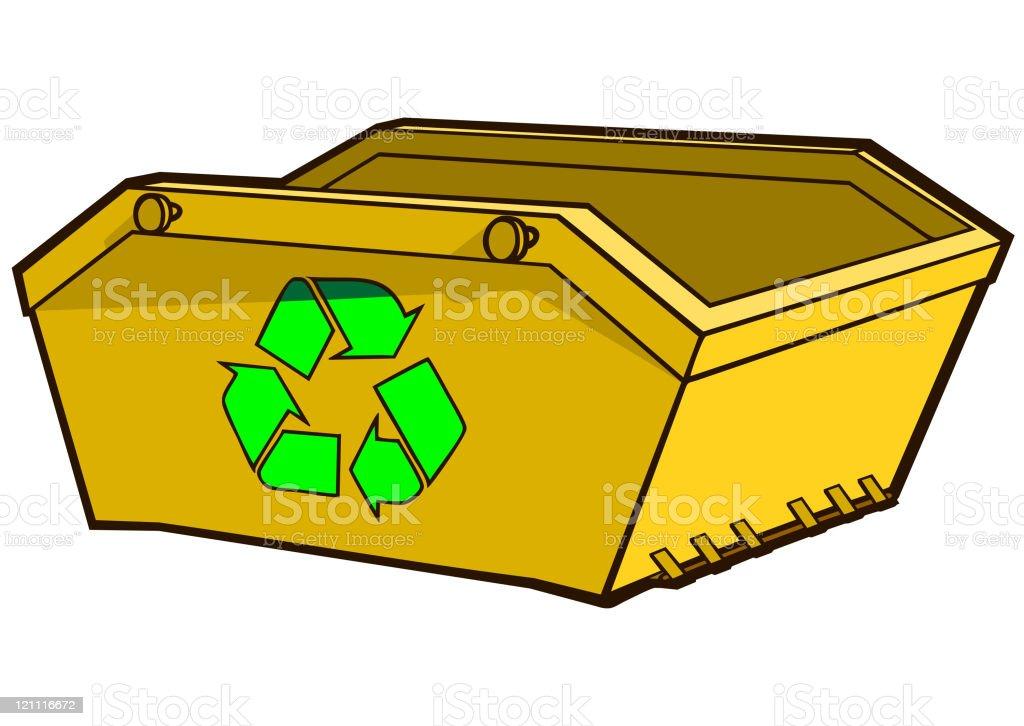 Skip For Recycling vector art illustration