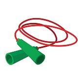 istock Skipping rope cartoon icon 614650894