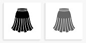 istock Skirt Black and White Square Icon 1149170005