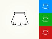 Skirt Black Stroke Linear Icon