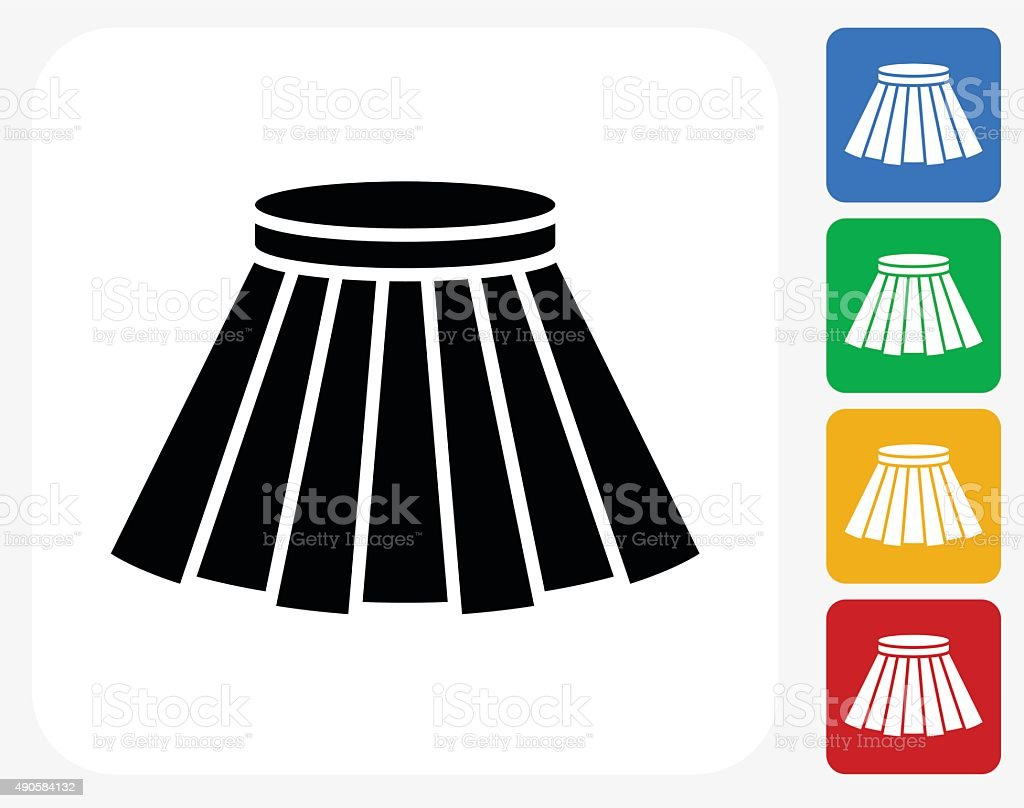 Skirt Icon Flat Graphic Design vector art illustration