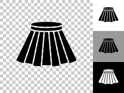 Skirt Icon on Checkerboard Transparent Background