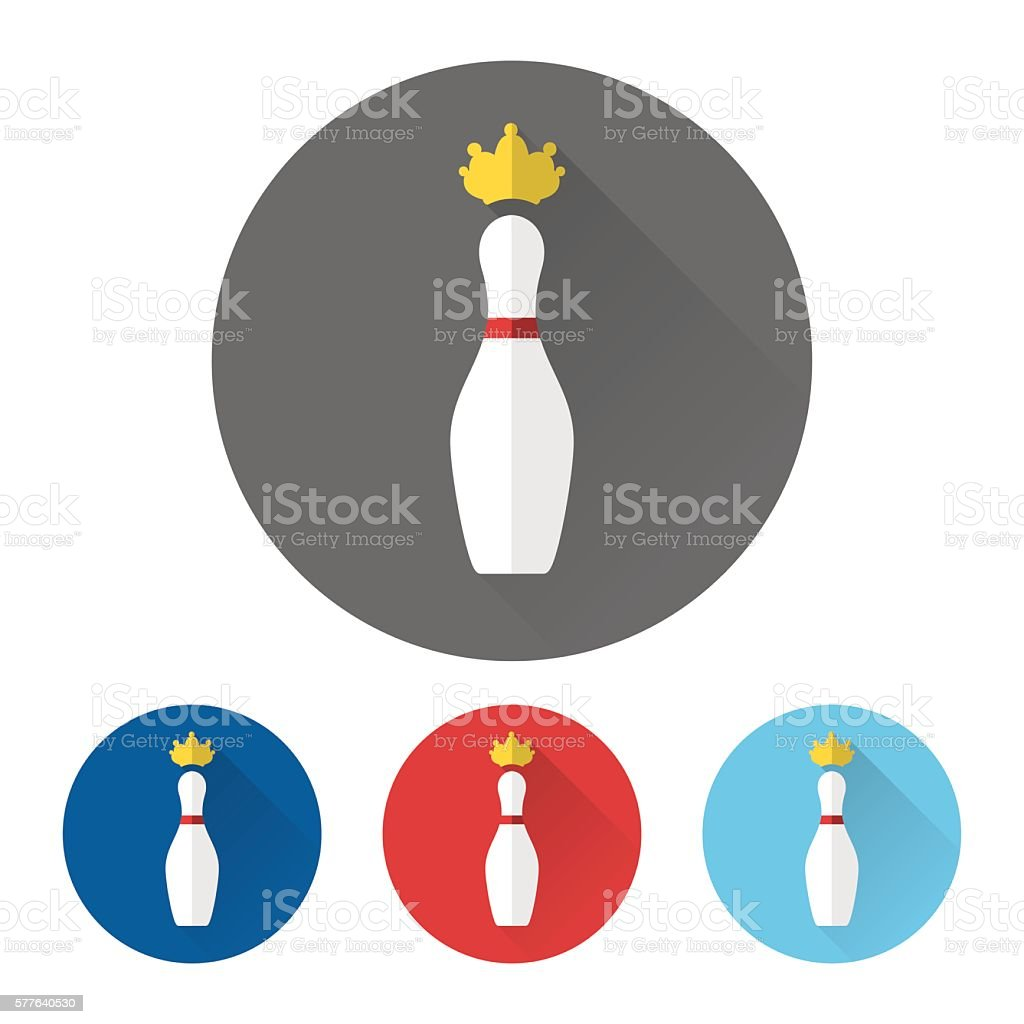 Skittles and golden crown icons vector art illustration