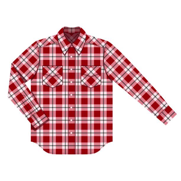 skjorta - plaid shirt stock illustrations