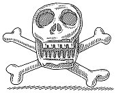 Skull And Bones Drawing
