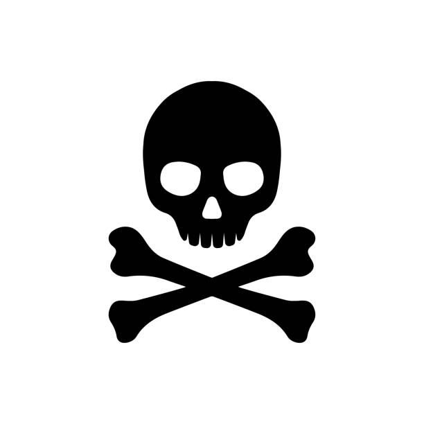 skull and bones icon skull and bones icon death stock illustrations
