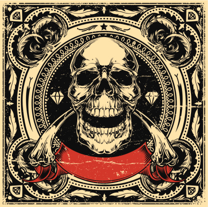 Skull tattoo stock illustrations