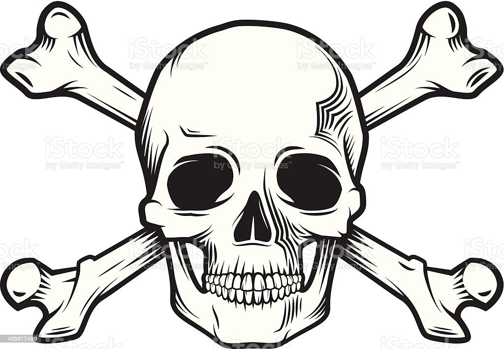 skull and bones stock vector art more images of concepts 455317499 rh istockphoto com skull and crossbones vector free skull and crossbones vector free