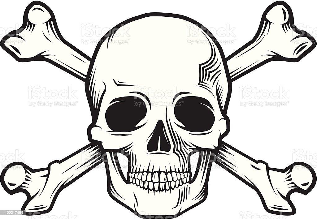 Schädel und Knochen – Vektorgrafik