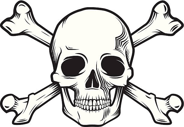 stockillustraties, clipart, cartoons en iconen met skull and bones - vervuiling