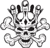 skull and crossbone crown