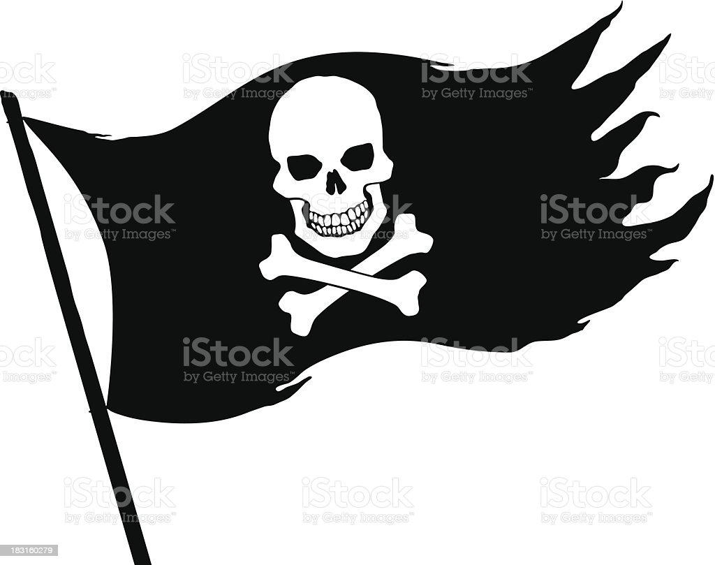 how to draw a pirate flag