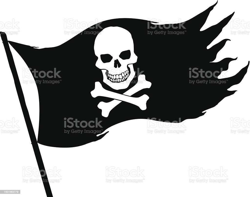 royalty free jolly roger clip art vector images illustrations rh istockphoto com Jolly Roger Outline Jolly Roger Symbol