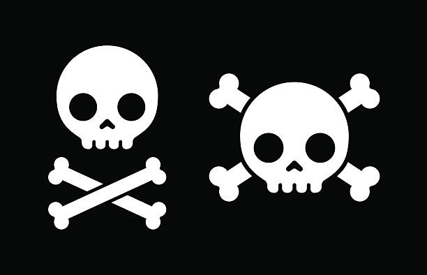 stockillustraties, clipart, cartoons en iconen met skull and crossbones icons - vervuiling