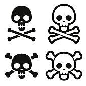 Skull and crossbones icons.